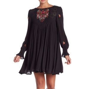 3/$60 Free People Mohave Embroidered Mini Dress